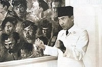 The Republic of Indonesia's first president Sukarno captured by Cartier Bresson
