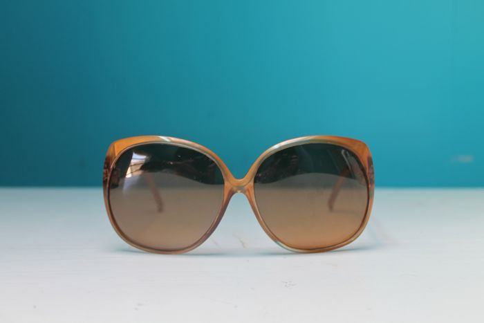 vintage 1970s sunglasses - TOFFEE oversized shades by MsTips on Etsy