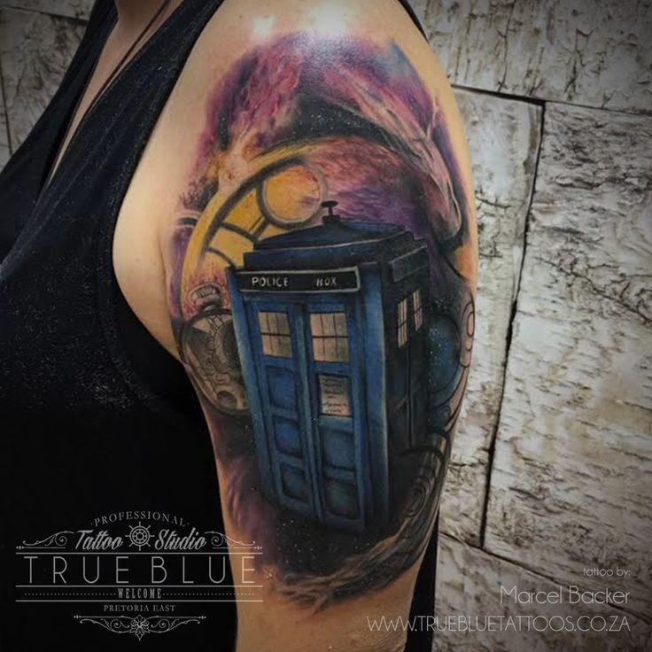 """Techno Telephone""by Marcel Backer of True Blue Professional Tattoo Studio"