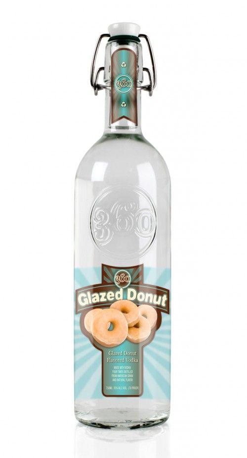 360-Glazed-Donut-750ML: 360 Glaze, Vodka Glaze, 360 Vodka, Donuts Vodka, Recipe, Vodka 750Ml, Glaze Donuts, Flavored Vodka, Donuts Flavored