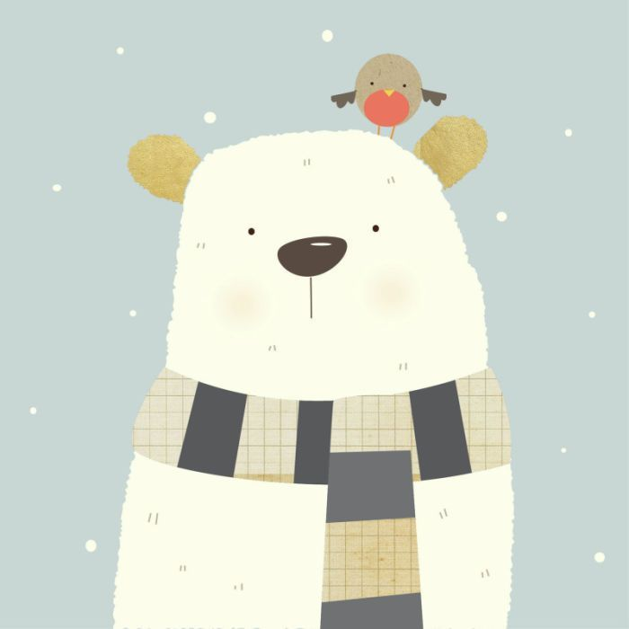 Polar Bear (Xmas Design) by Nicola Evans