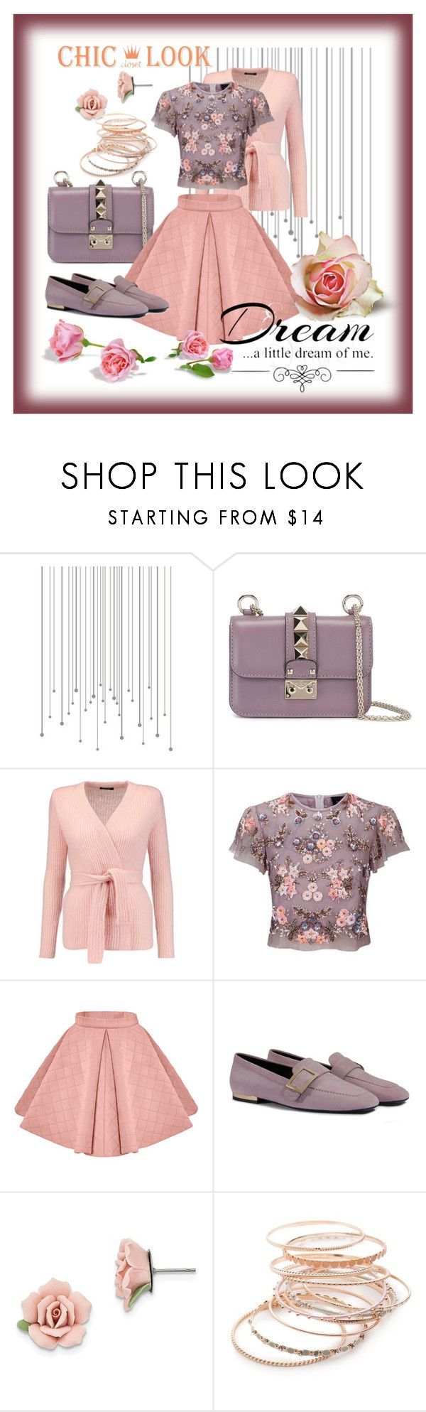 """""""Untitled #115"""" by mladja-bozic ❤ liked on Polyvore featuring Valentino, Balmain, Needle & Thread, 1928, Love Quotes Scarves and Red Camel"""