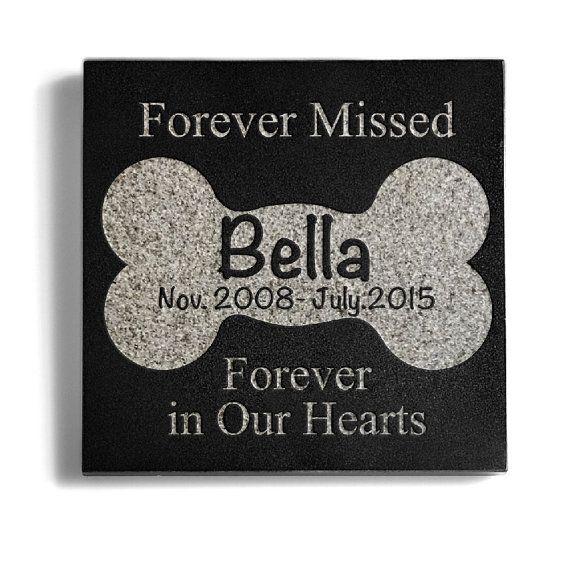 Personalized Memorial Pet Headstone Customized by sugaryeti