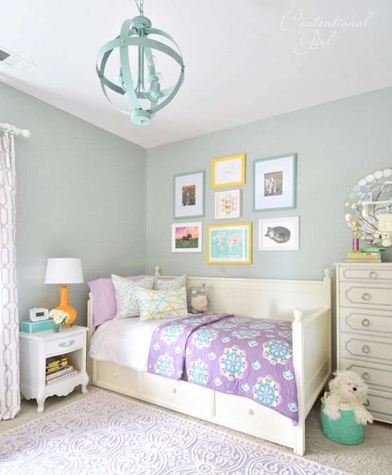 Bedroom Teenage Small Girls Room Purple Large Size