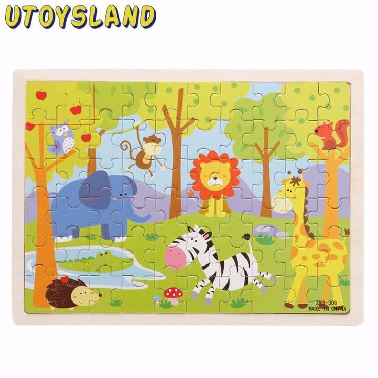 Utoysland 7スタイル60-Piece頭の体操木製ジグソーパズルのおもちゃゲームmagination知的教育子供のおもちゃ子供のギフト