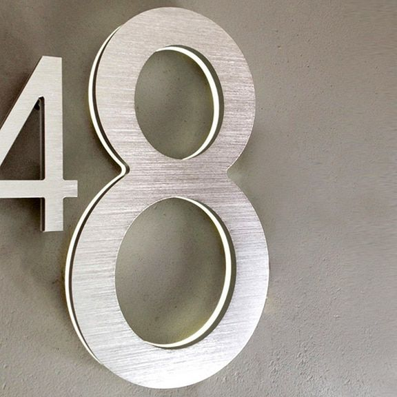 Luxello Modern Led House Number 5 Outdoor Surrounding Australia Led House Numbers Illuminated House Numbers Led House