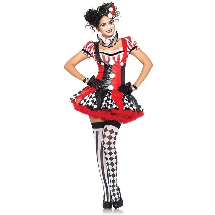 Harlequin Clown Mime 3 Piece Sexy Adult Costume Leg Avenue 83929   Clothing, Shoes & Accessories, Costumes, Reenactment, Theater, Costumes   eBay!