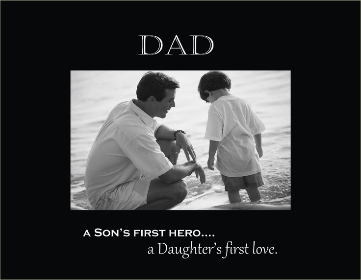 """Dad 4""""x6"""" Photo Frame with Verse (A Son's First Hero...)"""