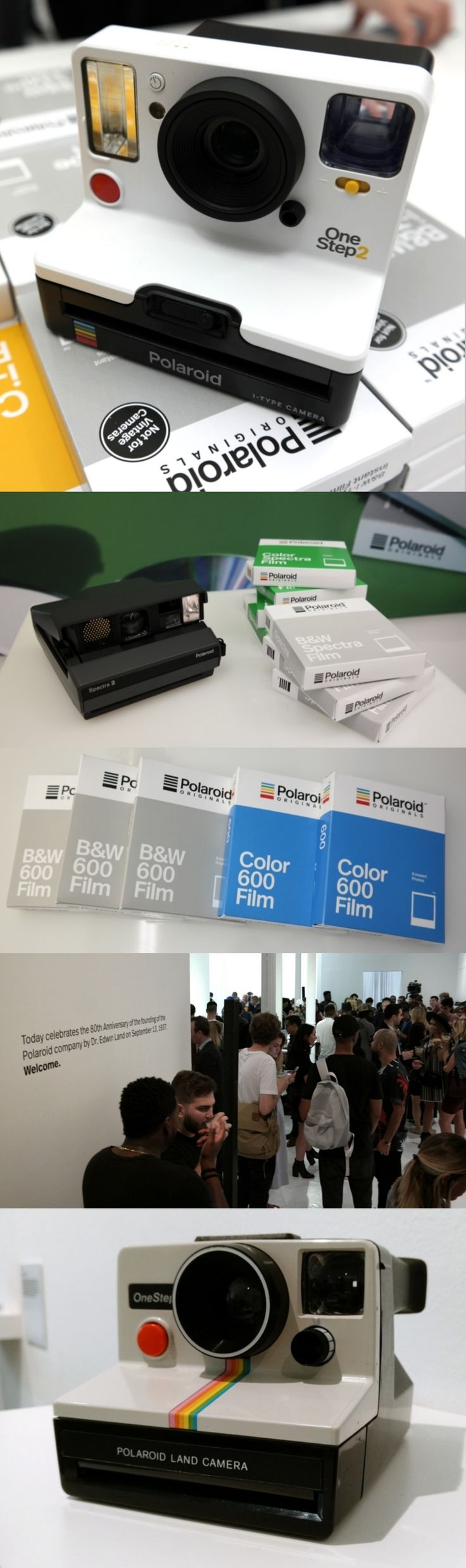 They're baaack! The new Polaroid OneStep 2 from Polaroid Originals marks the return of Polaroid-brand instant film cameras for the first time since 2003. The $100 OneStep 2, available Oct. 16, adds a flash, a 60-day internal battery and an improved lens to the design of the iconic OneStep, which debuted in 1977. Also available: Refurbished classic @Polaroid cameras like the 600, SX-70 and Spectra. Sept. 13 marked the 80th anniversary of Polaroid, founded by Edward Land. #80yearsofpolaroid