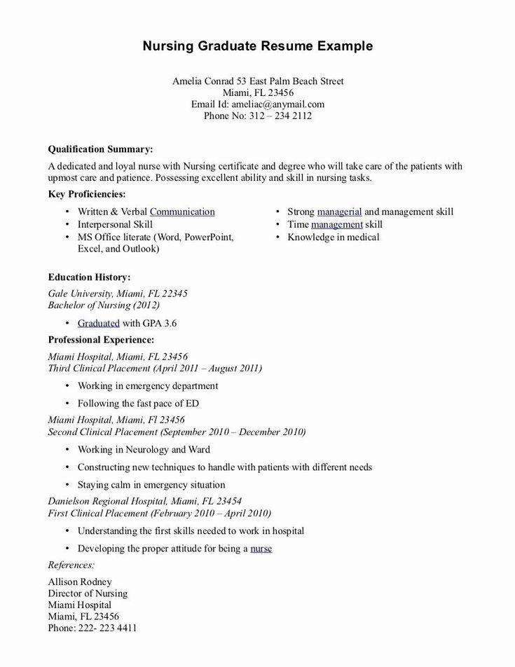 32 best of new grad nursing resume in 2020 nursing