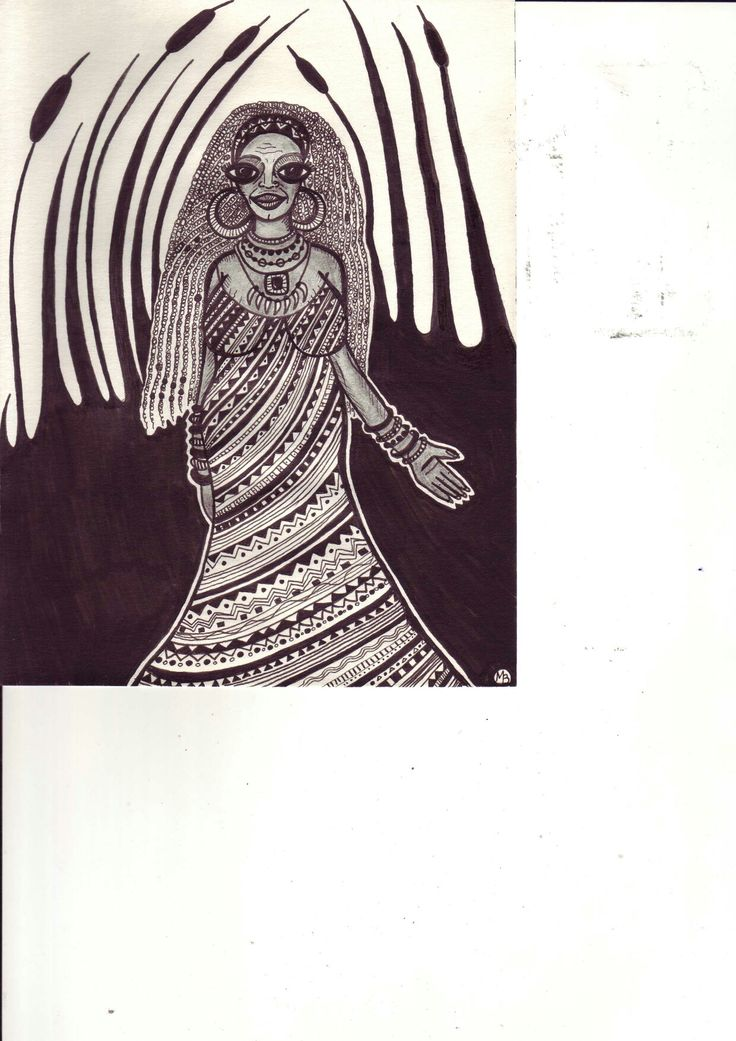 Shamann woman/book illustration by Mad.Madlene Art