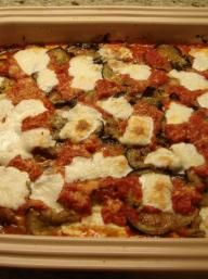 Eggplant, Mozzarella and Saffron Rice Bake