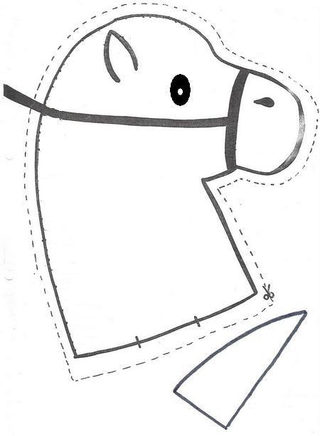 Moldes para hacer una cabeza de caballo - Imagui
