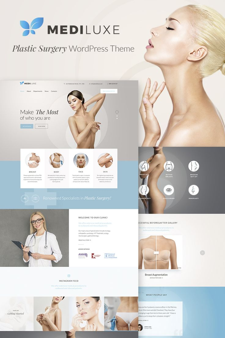 MediLuxe - Plastic Surgery WordPress Theme #67149