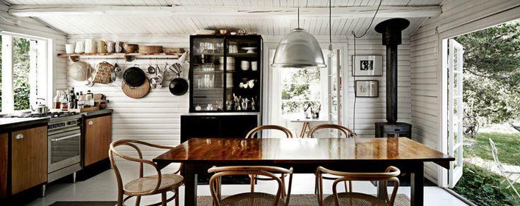 of Danish photographer Martin DyrløvInteriors Photography, Scandinavian Interiors, Cabin Kitchens, Interiors Design, Black White, Cozy Kitchens, Martin Dyrlov, Kitchens Layout, Open Kitchens