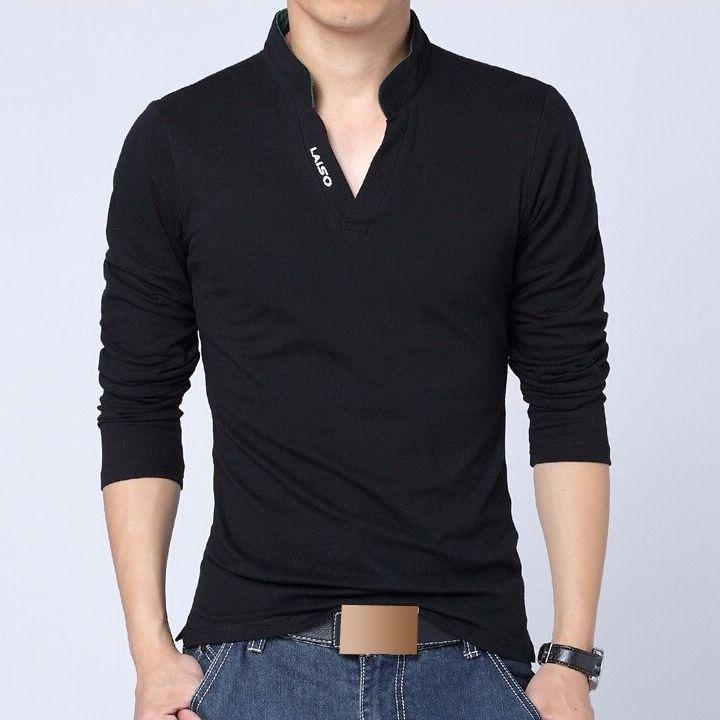 Camisa Polo Casual Masculina Manga Longa