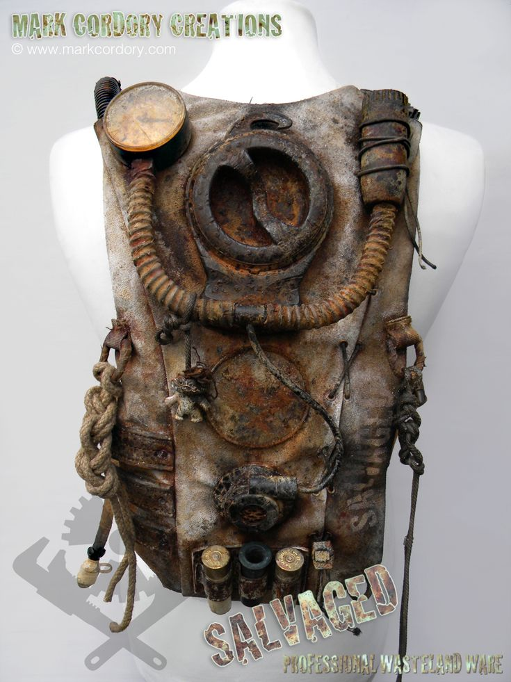 Post Apocalyptic Costume. Hydration backpack. SALVAGED Ware enquiries welcome @ www.markcordory.com