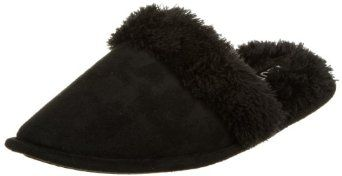 Izod Women's Microsued Slipper, Black, 7 IZOD. $14.99