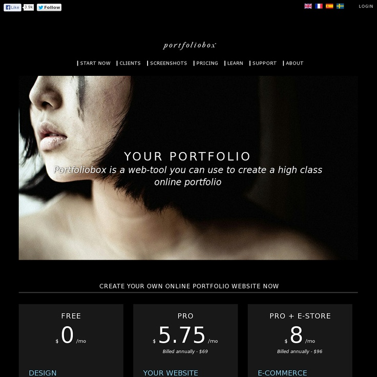 Portfoliobox is a tool that anyone can use to create their own professional website - http://www.portfoliobox.net/