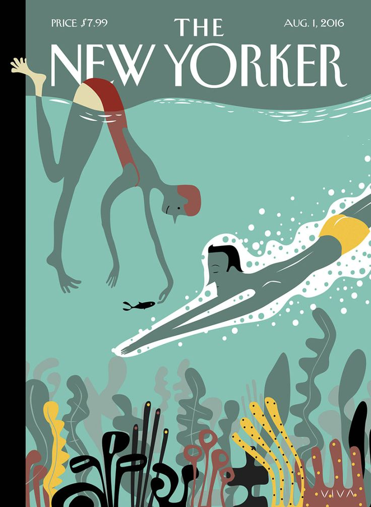 """I need the solitude to focus,"" Viva says of his cover for this week's issue, ""Beneath the Waves."""