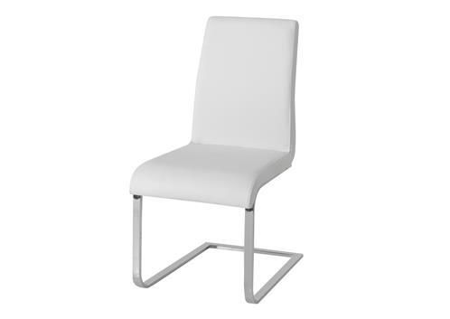 Hue, Dining Chair, Leatherette, White Dining Chair, White Leather Dining  Chair