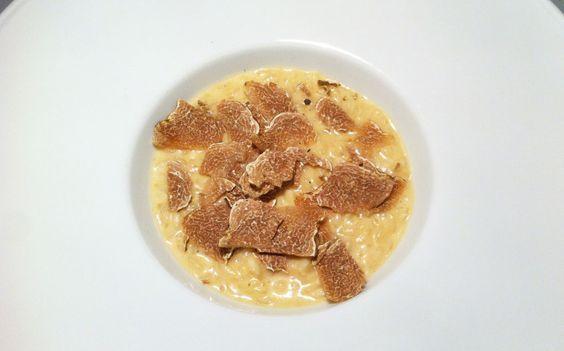 Risotto mantecato con burrata e tartufo bianco