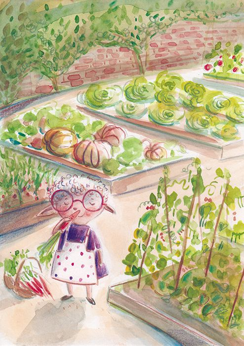 "Ania Simeone's illustration - Cloe  from book "" Da grande voglio fare la chef"" Emme Edizioni, 2017"