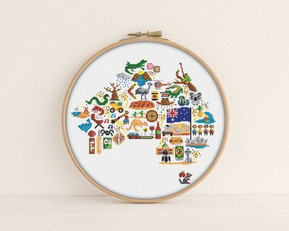 Australia Cross Stitch Pattern Printable Pdf Pattern Australia