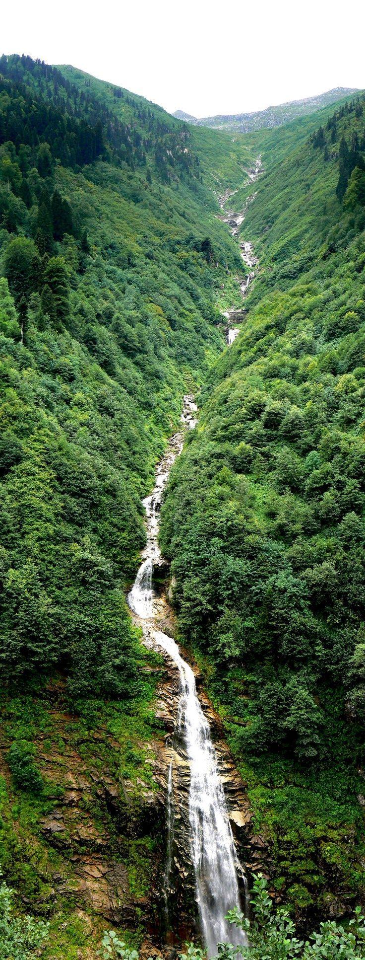 Waterfall at Ayder Yaylası – Rize,Turkey