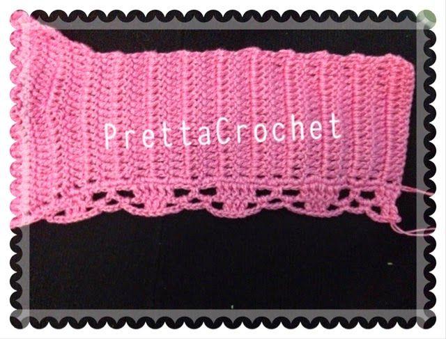 Cropped de crochê feito pela Pretta Crochet ( ela faz por encomenda ) eque disponibilizou passo a passo