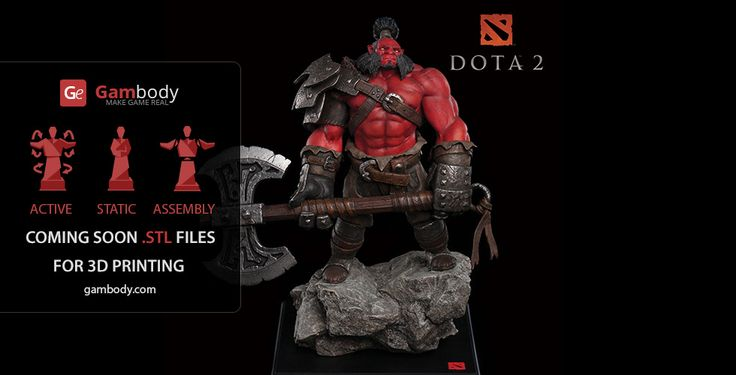 AXE Dota2 Scale Model for printing - Dota2 for 3D Mode for printing
