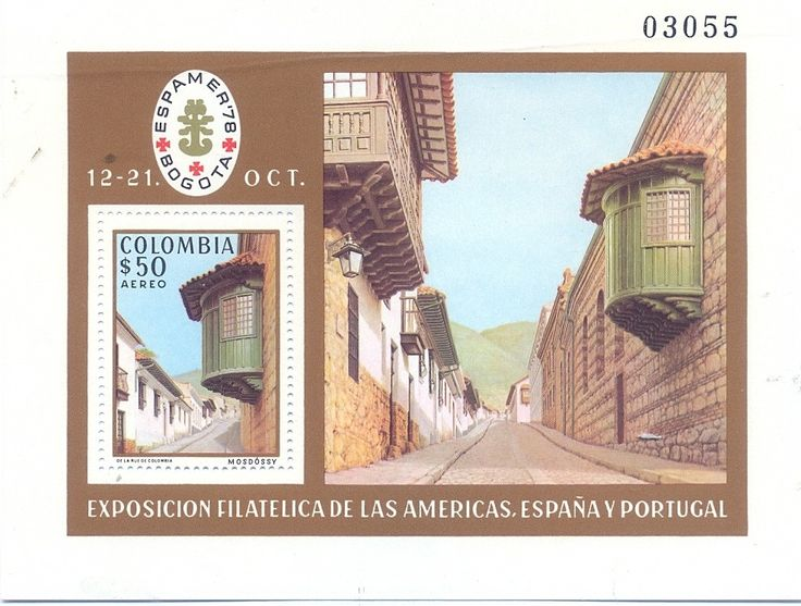 Bélyeg: El Camarin del Carmen, Bogota (Kolumbia) (Stamp Exhibition ESPAMER '78, Bogota) Mi:CO BL37,Sn:CO C666,Yt:CO B 36