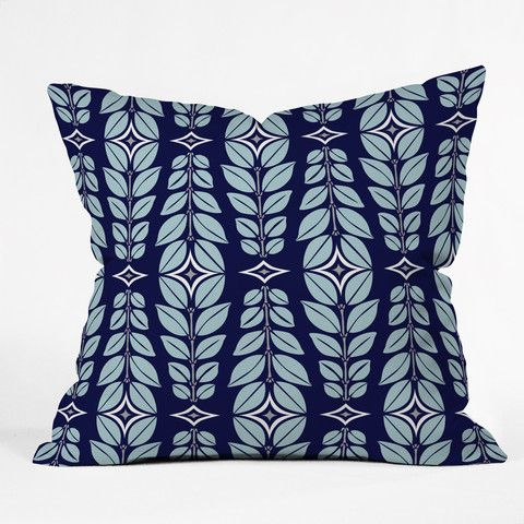 Throw Pillow Yardage Calculator : Heather Dutton Cortlan Navy Yard Throw Pillow Throw pillows, Products and Yards