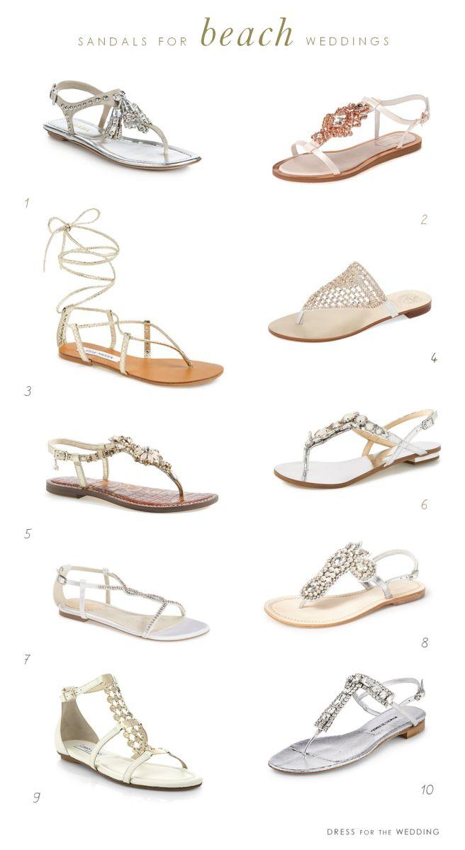 Pretty sandals for beach weddings!
