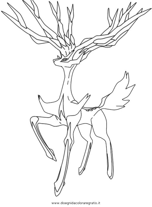 Pokemon Xerneas Coloring Pages sew for kiddos