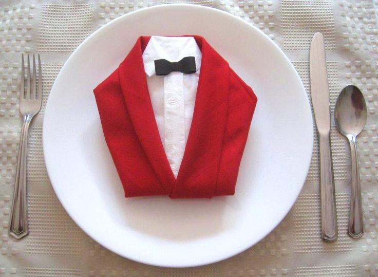 Tuxedo Napkin Folding