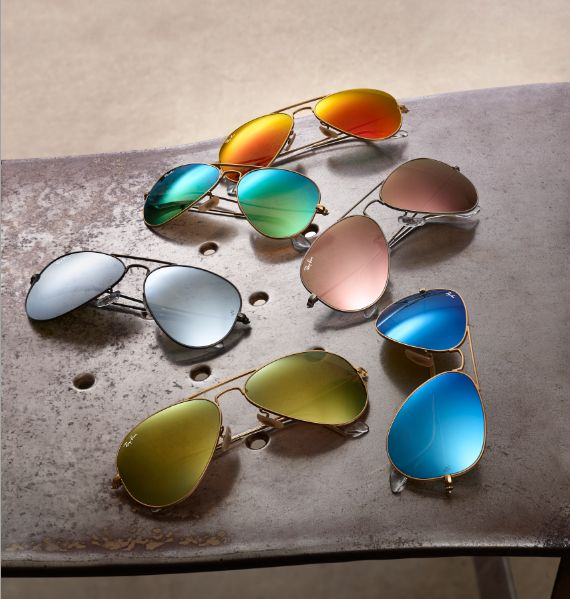 Ray Ban Classic Aviator Frames With Flash Mirror Colour