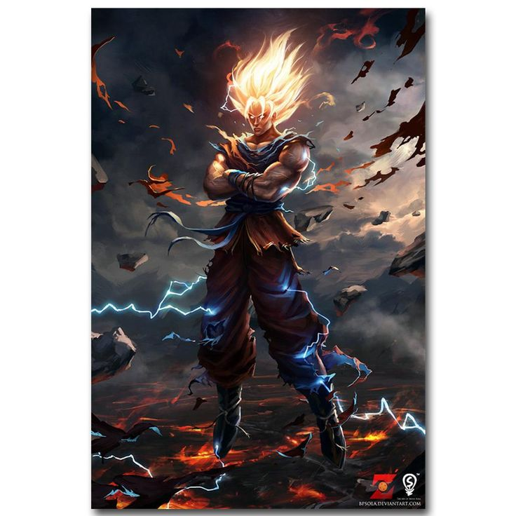 [Visit to Buy] Dragon Ball Z Art Silk Fabric Poster Print 13x20 24x36inch Japanese Anime Goku Picture for Living Room Wall Decor Gift 015 #Advertisement
