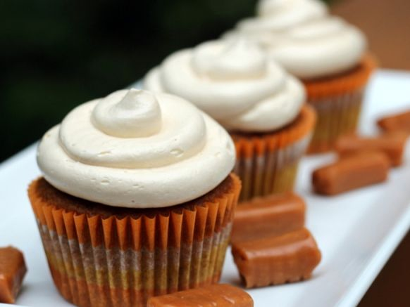 77. Pumpkin Cupcakes With Salted Caramel Buttercream | Community Post: 101 Pumpkin Recipes From Drinks To Dessert