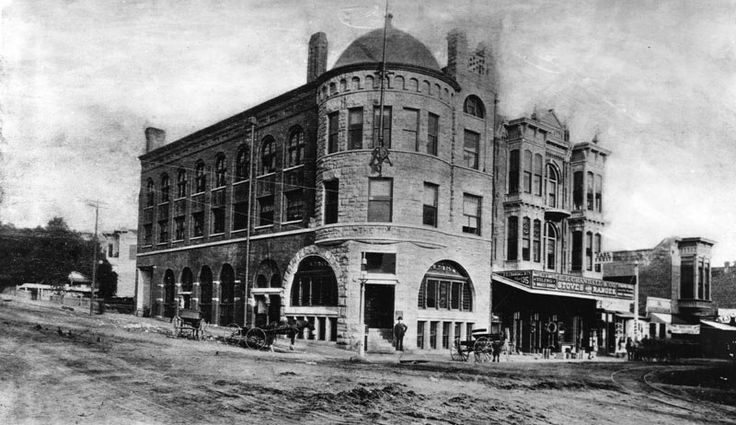 The Los Angeles Times Building before the bomb, 1st Street