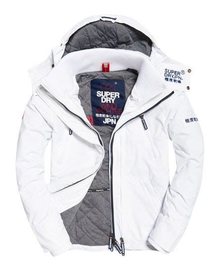 Superdry Hooded Wind Yachter Jacket White