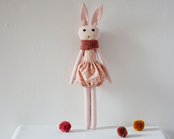 This beautiful, sweet stuffed animal doll is perfect gift for children!It's handmade with care and carries a CE certificate.Its bunny face has been hand painted with non-toxic non-washable ...