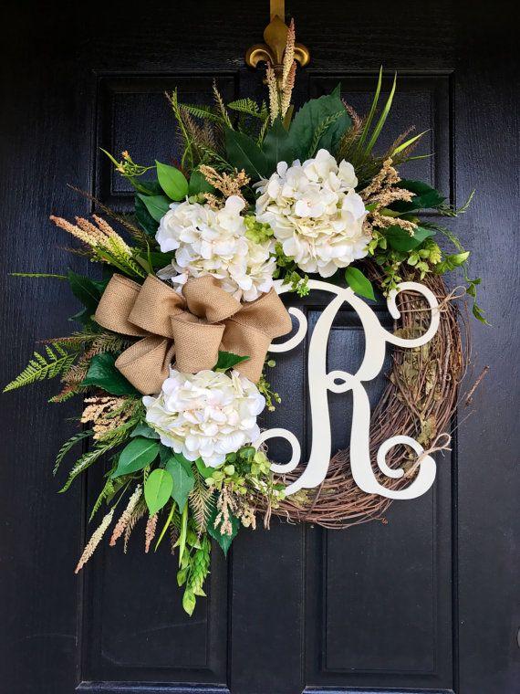 BEST SELLER Spring Wreaths for Front Door Front by FleursDeLaVie