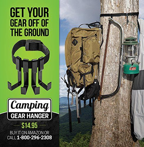 Camping Gear Hanger - GET YOUR GEAR OFF THE GROUND!