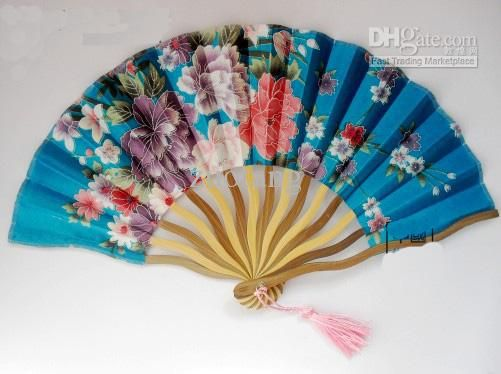Fine Pretty Wedding Hand Fans Bridal Folding Decorative Chinese Silk Printed Fan Size 12 X 8 Inch Mix Color From Zuotang, $33.51   Dhgate.Com