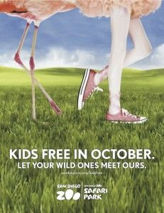 Kids free in October at the San Diego Zoo