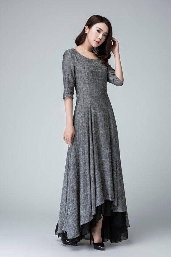 e852a2a731 high low dress linen dress summer dress womens dresses