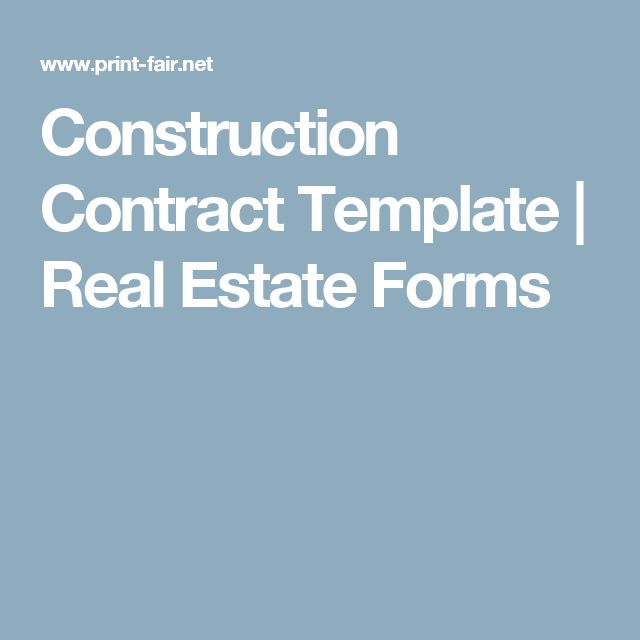 Best 25+ Construction contract ideas on Pinterest Residential - free construction contracts