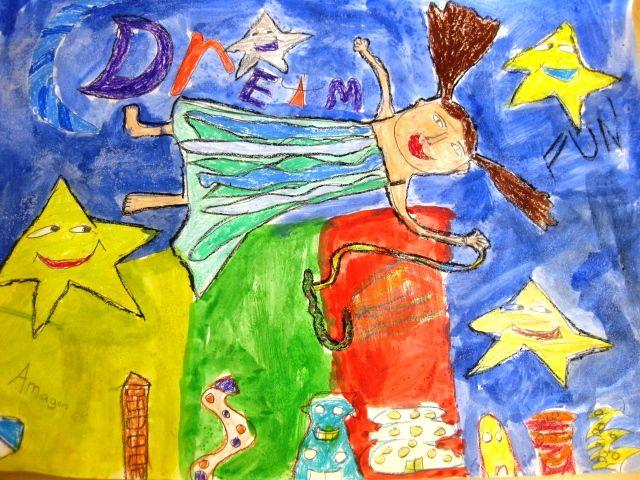 Art Lesson plans | Art Lessons For Kids Chagall inspired dreaming