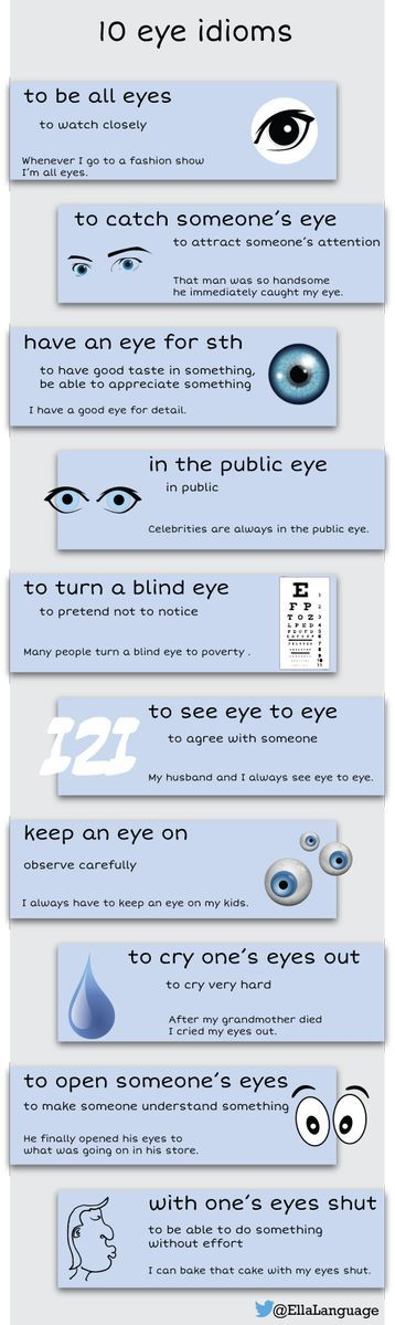 Learn 10 EYE idioms #learnenglish